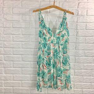 NWT 🏝 Tropical print sundress with pompom ties